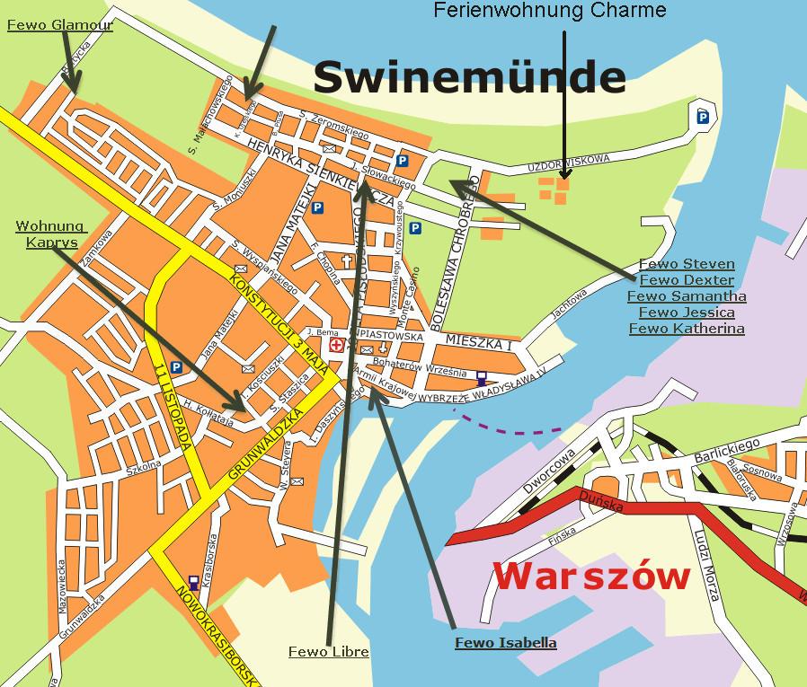 Karte Ostsee Polen.Isabella Ferienwohnung Karte